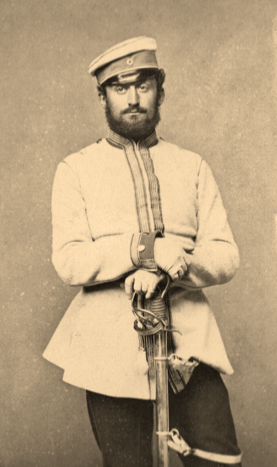 Paul Mendelssohn Bartholdy in the uniform of the Landwehr cavalry during the Franco-Prussian War.  Image: private collection.
